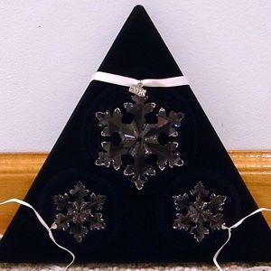 2016 Swarovski Crystal Ornament 3 Star Set